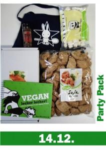 Alles für die vegane Party: Vegan lecker lecker!, Medaillons, Big Steaks, Marshmallows, Kochschürze und mehr ...