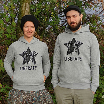 our new Liberate hoodies, looking great on Sania and Julia
