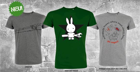 Abbildung der drei T-Shirts