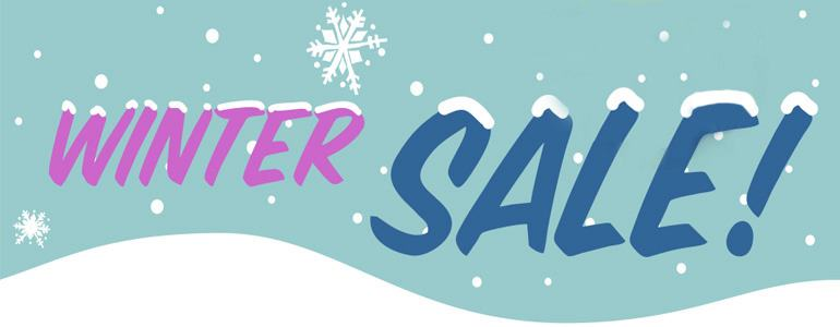 Winter SALE starts now! THe picture shows the words 'Winter SALE'