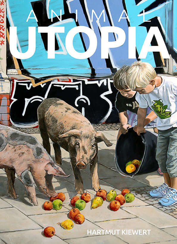 Buchcover von 'Animal Utopia' mit dem Bild 'brothers from different mothers'
