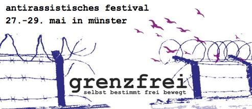 Logo des Grenzfrei Festivals Münster