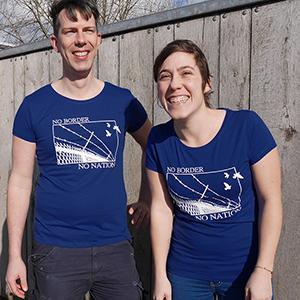 No border Shirt: deep royal blue