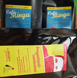 Neue Kaffeesorten von Aroma Zapatista, aus Kolumbien. Und eine neue Sorte, die von einem Röstkollektiv in Hamburg geröstet wird. So schmeckt Solidarität!