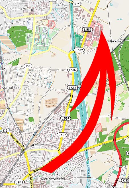 Der vegane Onlineshop roots of compassion zieht in Münster in die Rudolf-Diesel-Straße. Daten von http://www.openstreetmap.org - Veröffentlicht unter ODbL (http://opendatacommons.org/licenses/odbl/)