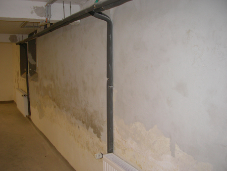 Basement, no paint at all