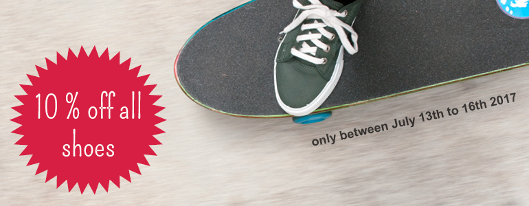 Until sunday we offer you 10 % discount on shoes!