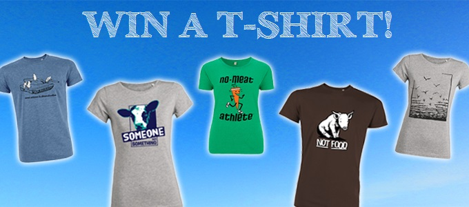 Win a roots of compassion t-shirt! The picture shows the five shirts you can win.