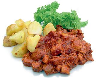 """Veganes Tofu Stroganov aus dem Kochbuch 'Vegan lecker lecker"""" - Rezeptfoto"""