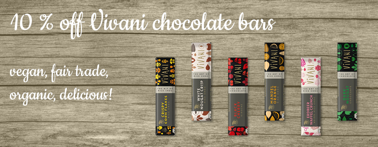 6 yummy vegan chocolate bars from Vivani
