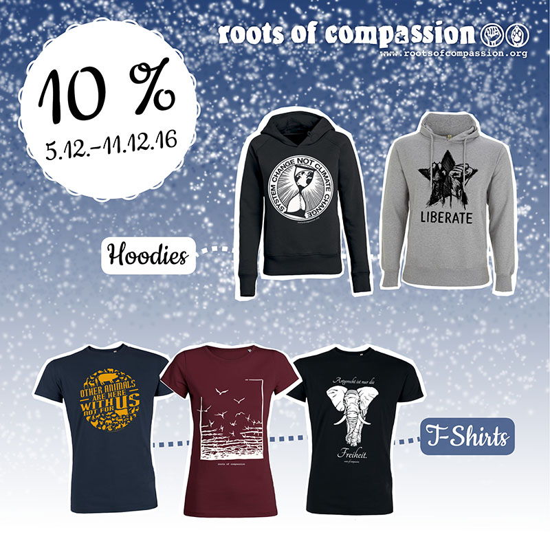 This week: 10 % discount on T-Shirts, Hoodies, Tanktops and Jackets!