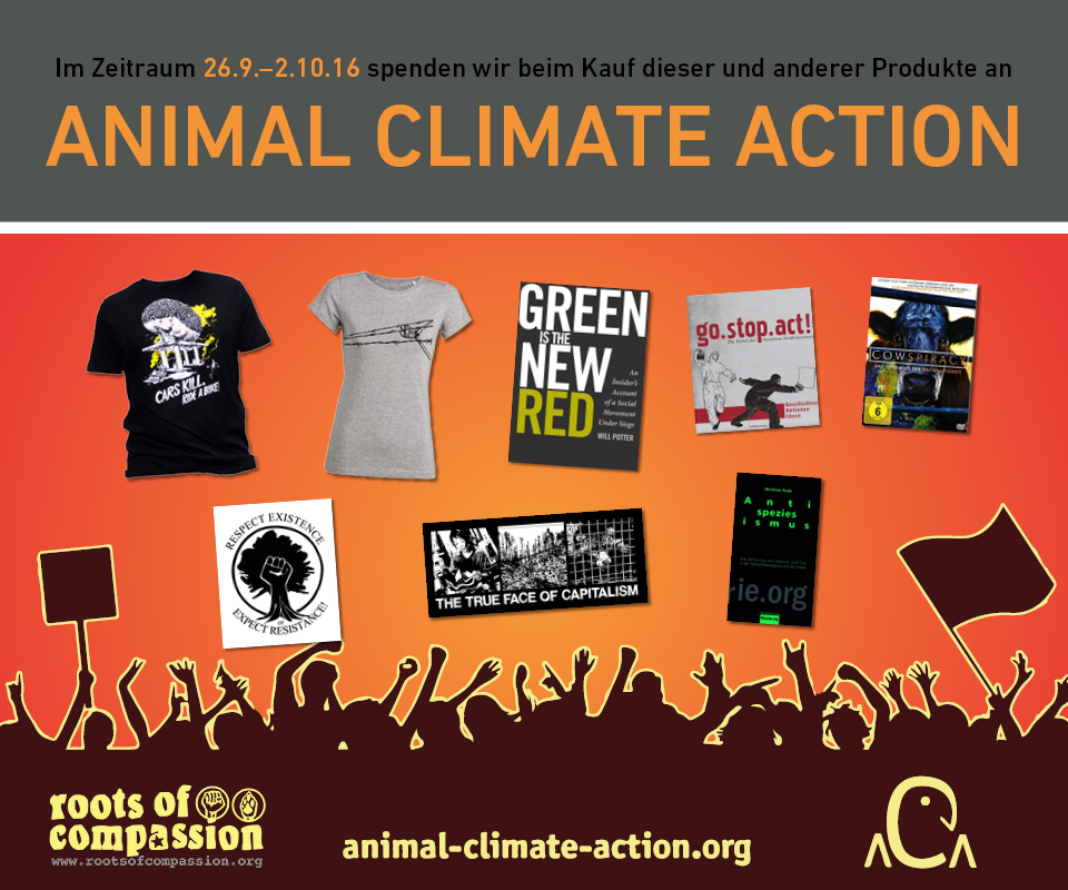 By purchasing some of the products in the picture you support Animal Climate Action