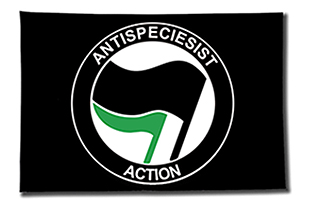 Now available in english: the flag 'Antispeciesist Action'