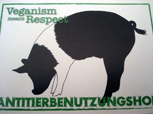 Karte vom Antitierbenutzungshof: Veganism means Respect