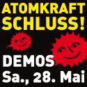 Aufruf zur Demo am 28. Mai gegen Atomkraft