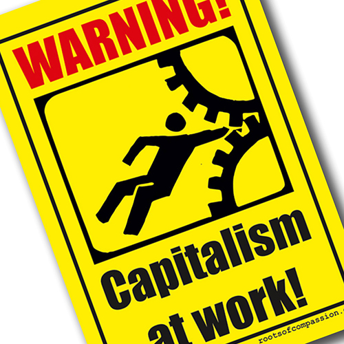 Capitalism at Work - sticker