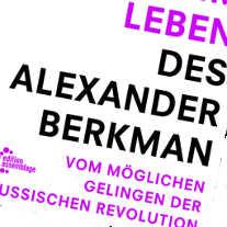 Ausschnitt aus dem Buchcover des schönsten Tags im Leben des Alexander Berkman
