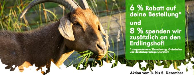 roots of compassion spendet 8 % eures Bestellwertes zwischen dem 3. und 5. Dezember an den Erdlingshof!