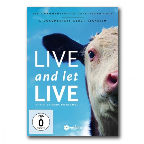picture shows the DVD cover. The head of a cow in front of  blue sky.