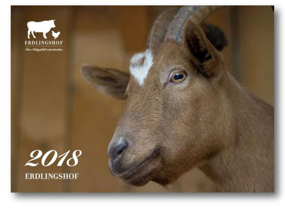 2018 calendar of the animal sanctuary 'Erdlingshof'