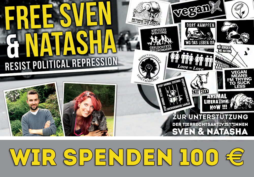 100 € Spende an Sven und Natasha