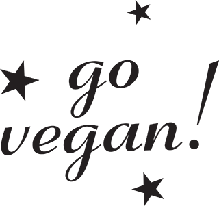 go vegan! with stars