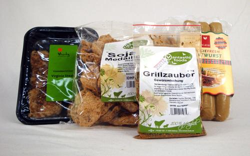Übersicht über das Grillpack mit Kühlwaren für Münster