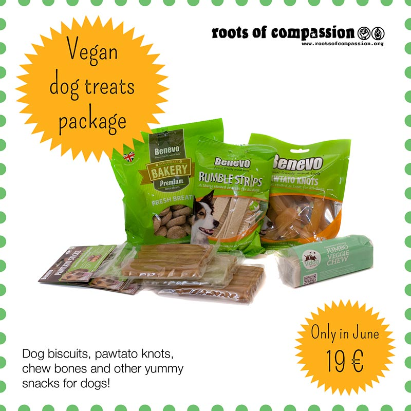 here you can see all the snacks included in the dog snacks mix for 19 € in June
