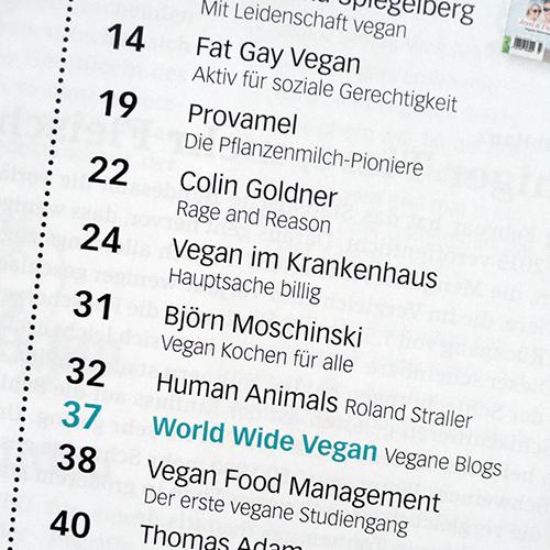 Kochen ohne Knochen. Diesmal: Fat Gay Vegan, Vegan im Krankenhaus ...