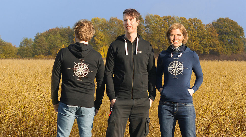 Die neuen Jacken und Hoodies mit Tierrechts-Kompassrose