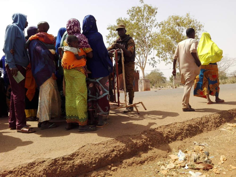 Kontrollposten zwischen Burkina Faso und Niger