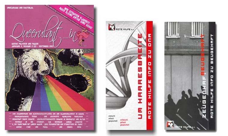 Abbildung der drei neuen Broschüren