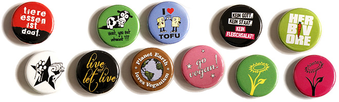 New fridge magnets for veganism and animal rights