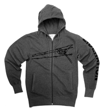 The new Liberation hooded jacket, dark grey