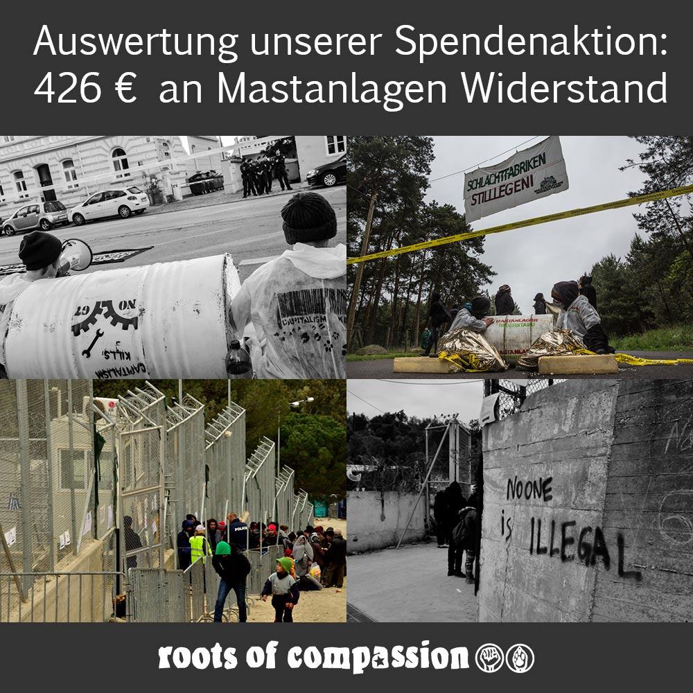 Bilder von Aktionen von Mastanlagen Widerstand