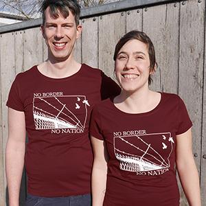 No border Shirt: burgundy
