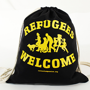 Refugees Welcome gymbag
