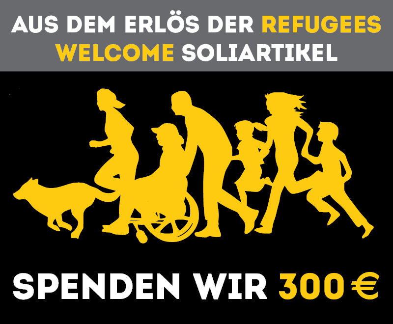 roots of compassion spendet 300 € aus dem Erlös der Refugees Welcome Soliartikel.