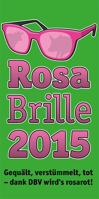 Logo der Aktion 'Rosa Brille 2015', die an den DBV verliehen wurde.