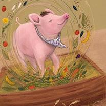 Schweinchen Schlau aus dem Kinderbuch von Udo Taubitz