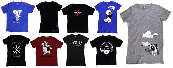 Ansicht der neuen T-Shirt Designs von roots of compassion