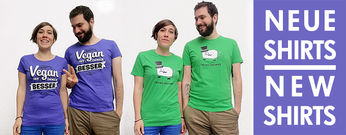 Neue vegane T-Shirts bei roots of compassion