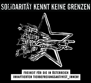 solidarity design for the animal rights activists who were accused in Austria