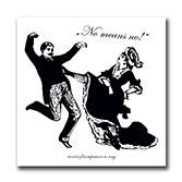 No means no! Sticker gegen sexuelle Übergriffe