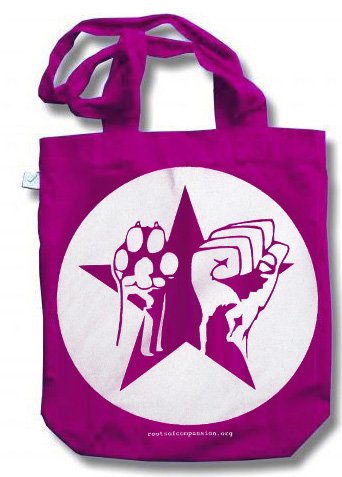 pink bag shows star paw fist motive