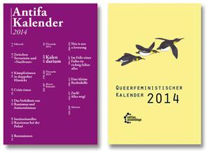 Antifa Kalender und Queerfeministischer Taschenkalender 2014