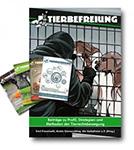 Abbildung des Sparpaketes zum Erscheinen des TIERBEFREIUNG Sammelbandes. Dazu gibt es vier Ausgaben des Magazins TIERBEFREIUNG: