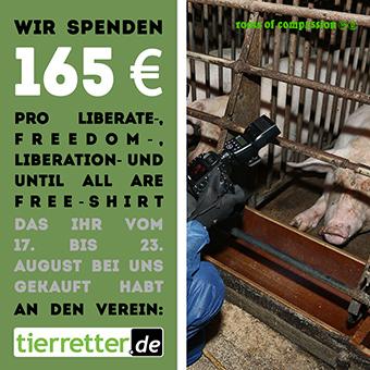 Wir haben 165 € an tierretter.de gespendet!