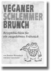 auf der Titelseite des Heftes veganer Schlemmerbrunch ist ein Frosch mit einer Gabel abgebildet