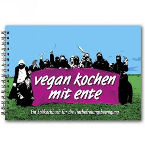 Cover des ersten Kochbuchs von Ente mit einer Abbildung radikale-vermummter Köch*innen